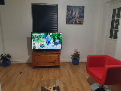 A television and/or entertainment center at Mannys Lodge - Flagship Apartment