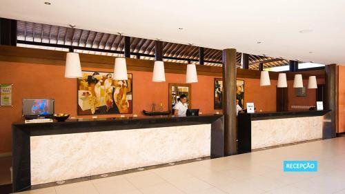The lobby or reception area at Vila Galé Resort Marés - All Inclusive