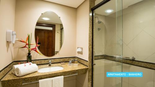 A bathroom at Vila Galé Resort Marés - All Inclusive