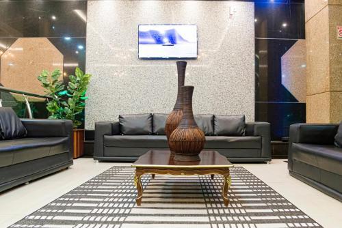 Zona de estar de Amazônia Tower Hotel