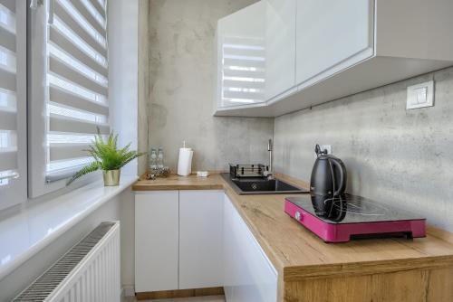 A kitchen or kitchenette at Niron Apartamenty Spacerowa