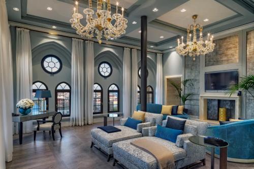 Coin salon dans l'établissement Hilton Molino Stucky Venice