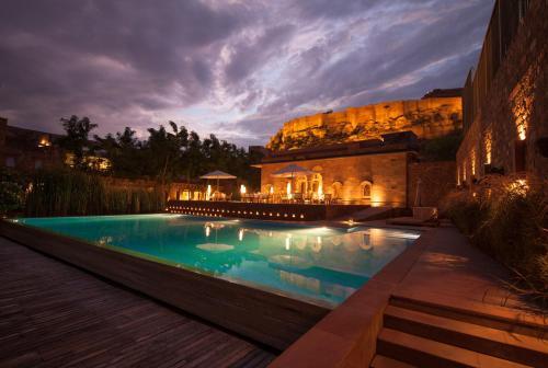 The swimming pool at or close to RAAS Jodhpur