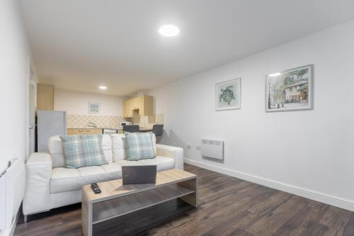 A seating area at Platform West Hull 2 bed Apartment