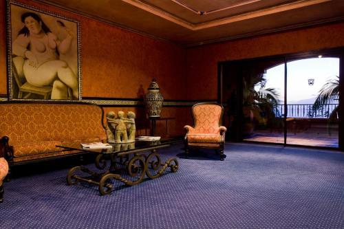 Coin salon dans l'établissement Europe Villa Cortes GL