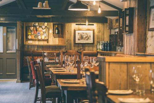 A restaurant or other place to eat at The Plume of Feathers