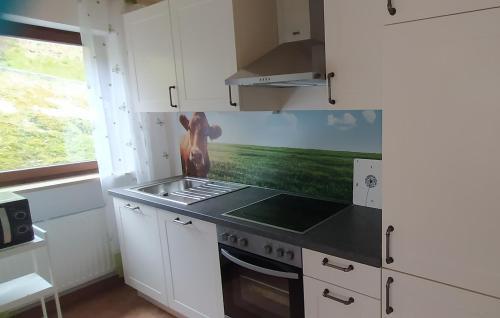 Küche/Küchenzeile in der Unterkunft Pusteblume