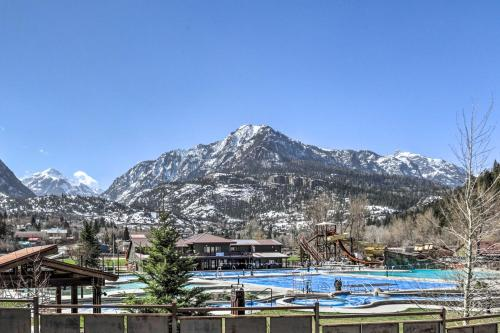 The swimming pool at or close to Modern Townhome with Deck Steps to Ouray Hot Springs