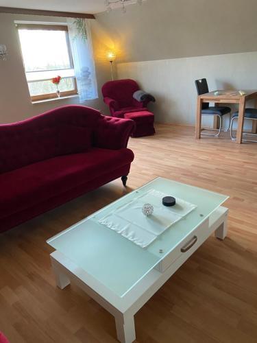 Ein Sitzbereich in der Unterkunft Hof Beuck