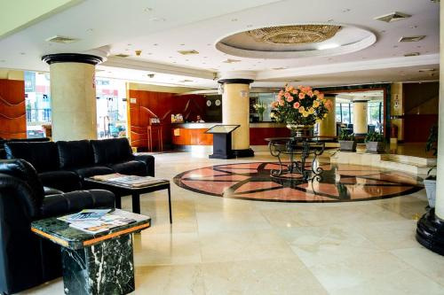 The lobby or reception area at Hotel Miramar