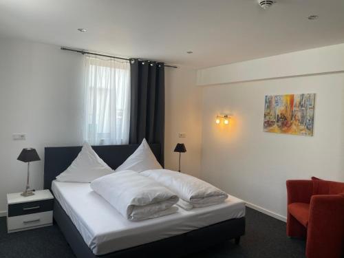 Кровать или кровати в номере Haus Sonnenschein