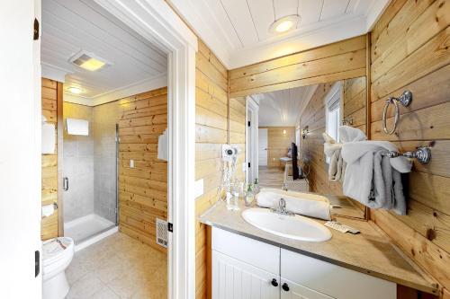 A bathroom at The Lighthouse