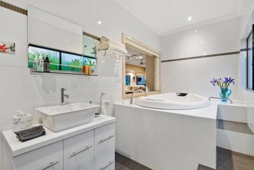 A bathroom at About Time Retreats- Studio Seven