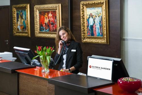 Лобби или стойка регистрации в Original Sokos Hotel Olympia Garden