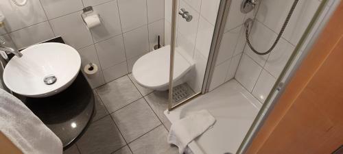 A bathroom at Hotel Stuttgart 21