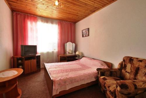 Кровать или кровати в номере Guest House Villa u Morya