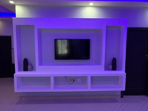 A television and/or entertainment centre at ZOWE LUXURIOUS APARTMENTs