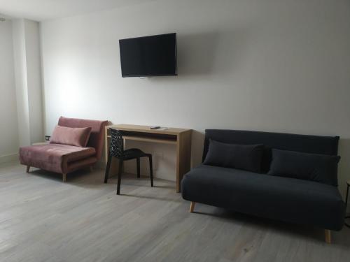 Zona de estar de Hotel Rural Envero