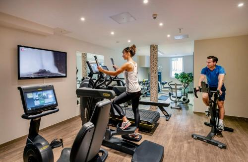 The fitness center and/or fitness facilities at Best Western Plus Hotel Erb