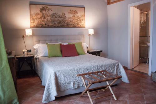 Letto o letti in una camera di Antica Dimora De' Benci