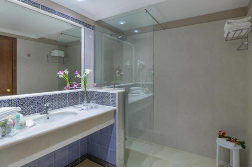 A bathroom at Hipotels Natura Palace Adults Only