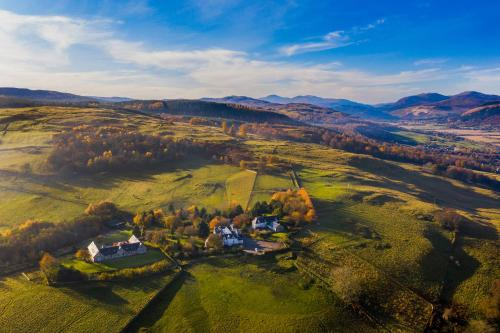 A bird's-eye view of Errichel House and Cottages