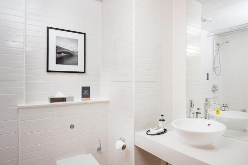 A bathroom at voco Reading
