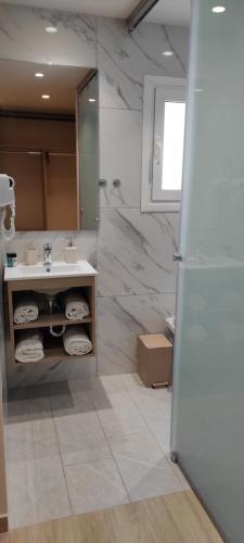 Ένα μπάνιο στο Sonia Hotel & Suites
