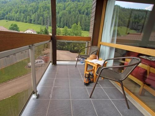 A balcony or terrace at Les Berlicants