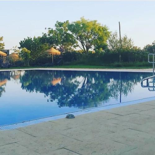 The swimming pool at or close to Monte das Palmeiras