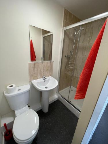 A bathroom at Empire student hall