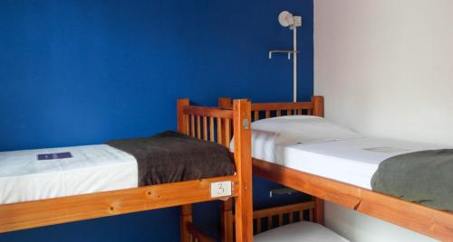 A bed or beds in a room at POA Eco Hostel