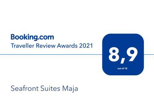 Certificato, attestato, insegna o altro documento esposto da Seafront Suites Maja