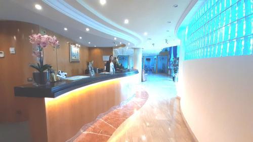 El vestíbulo o zona de recepción de Hotel Nueva Plaza