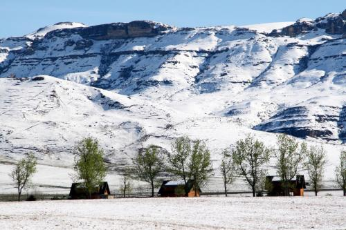 Sani Valley Nature Lodges during the winter
