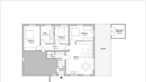 Grundriss der Unterkunft Haus Alpenrose zum Vic