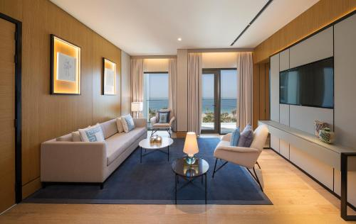 A seating area at Caesars Palace Dubai