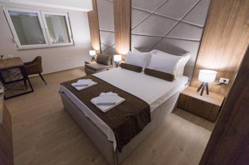 Posteľ alebo postele v izbe v ubytovaní Apartments Matjan