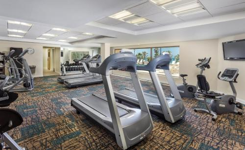 The fitness center and/or fitness facilities at Club Wyndham Oceanside Pier Resort