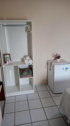 A kitchen or kitchenette at Pousada Brisa do Morro Ponta Negra