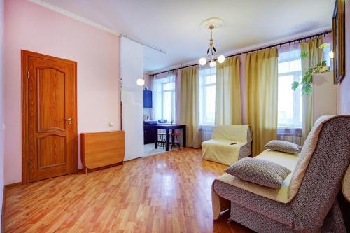 Гостиная зона в Vereyskaya 54 Appartement