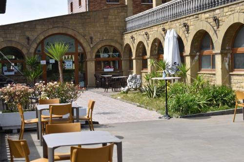 Un restaurante o sitio para comer en Pensión Ametzagaña