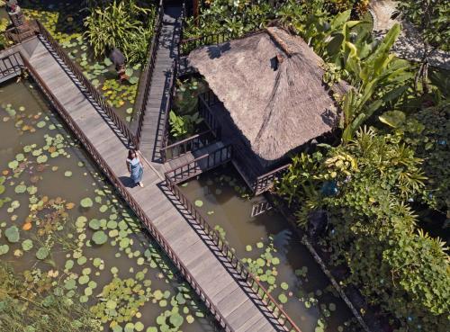 A bird's-eye view of Hotel Tugu Bali