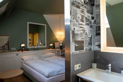 Ванная комната в Hôtel et Spa La Villa K - Basel Airport