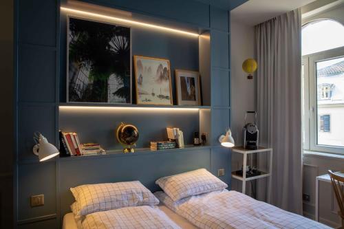 Кровать или кровати в номере Hôtel et Spa La Villa K - Basel Airport
