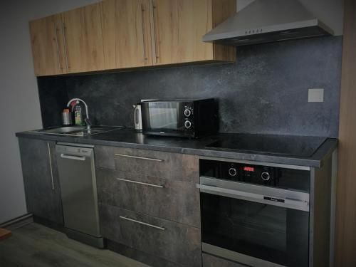 Kuchyň nebo kuchyňský kout v ubytování Apartments Villa Viola