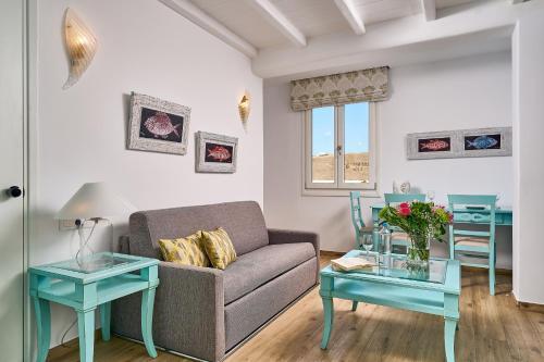 A seating area at Arte & Mare Elia Luxury Suites & Vllas