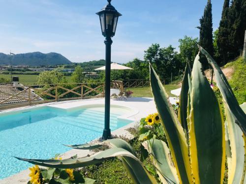 Vista sulla piscina di Villa Poggio Ulivo Apartments o su una piscina nei dintorni