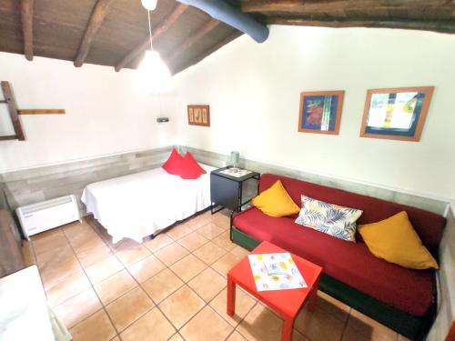 Cama o camas de una habitación en Camping El Pinajarro
