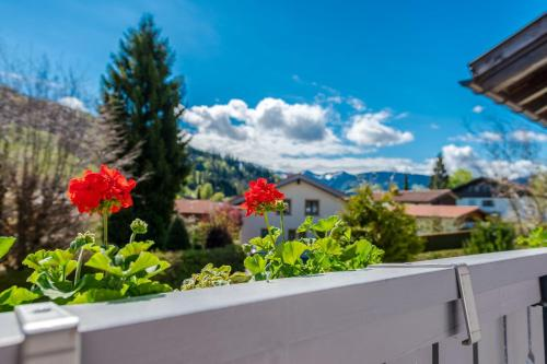 A balcony or terrace at Hotel Neudeck